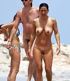 Look at this slim Russian nudist getting a tan